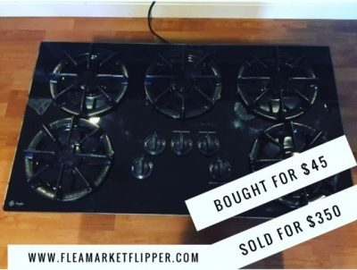 black stove cooktop flipped for a profit