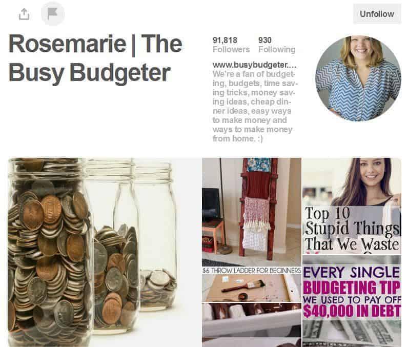 Rosemarie Groner of The Busy Budgeter