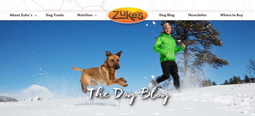 Zuke's dog blog screenshot