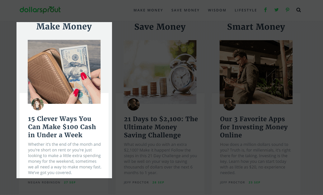 DollarSprout popular content in the make money category