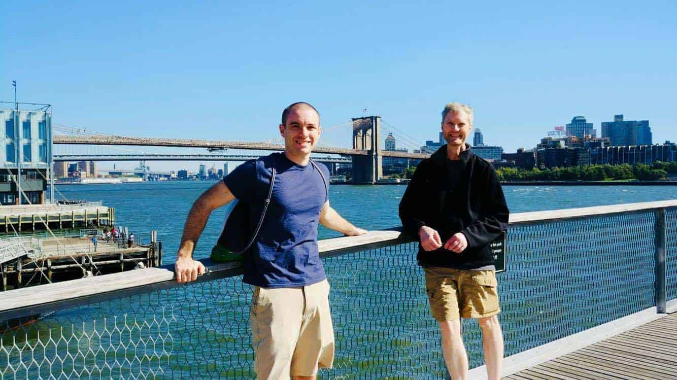 Full-Time Blogger Jeff Proctor and his Uncle Mike in New York City