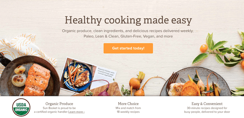 Healthy Meals Delivered with Sun Basket