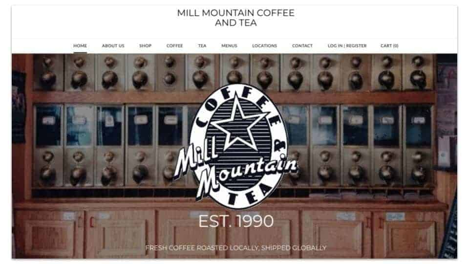 MillMountainCoffee.com website with no blog-min