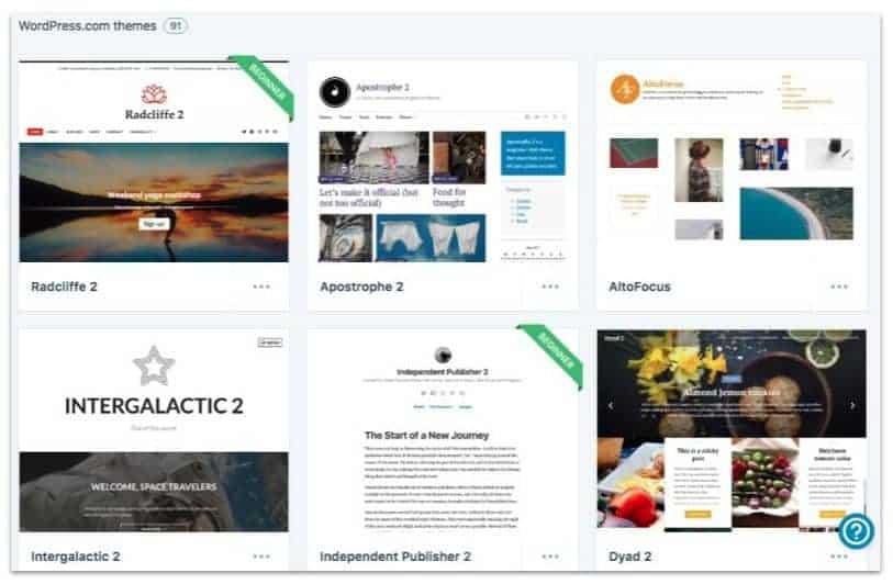 WordPress.com free themes