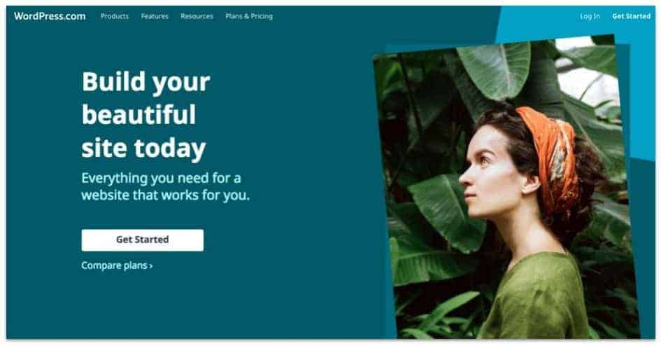 wordpres.com homepage