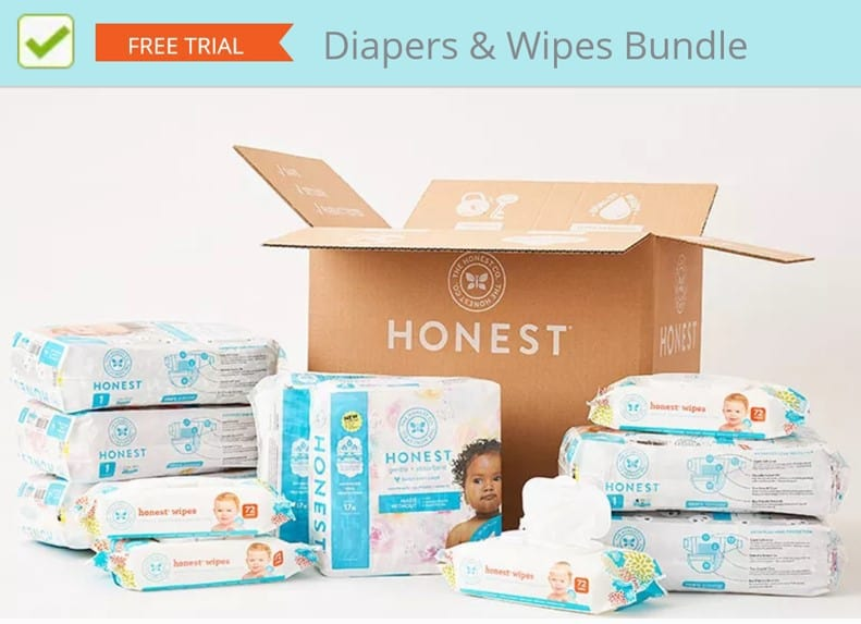Get free baby diapers from the Honest Company
