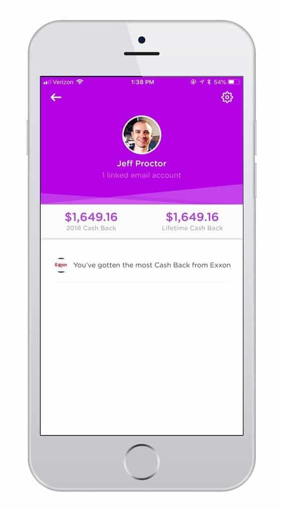 dosh cash back screenshot