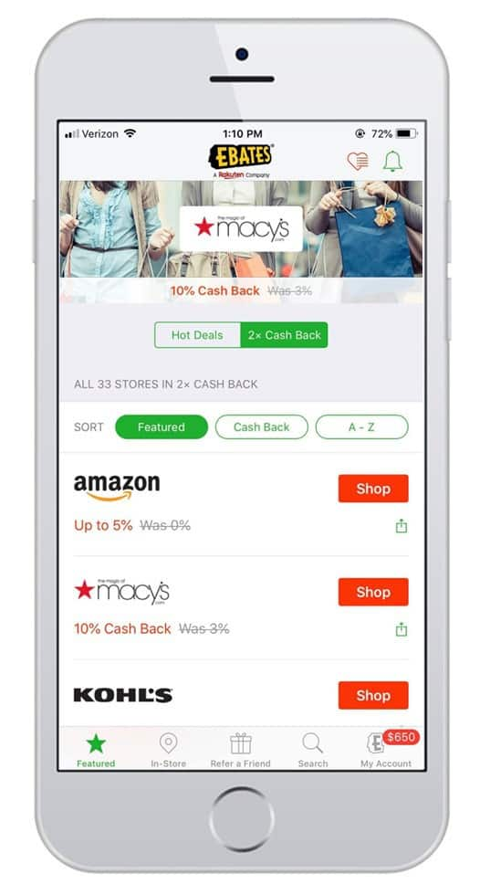 ebates mobile app