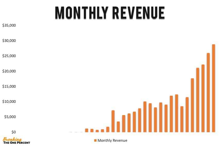 monthly blogging income report