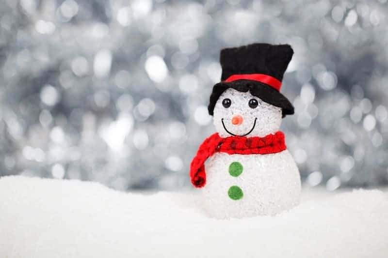 Christmas on a Budget: picture of a snowman