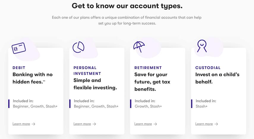 stash account types