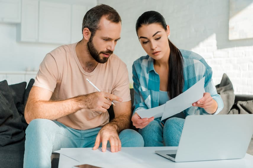 Couple Talking About Combining Finances