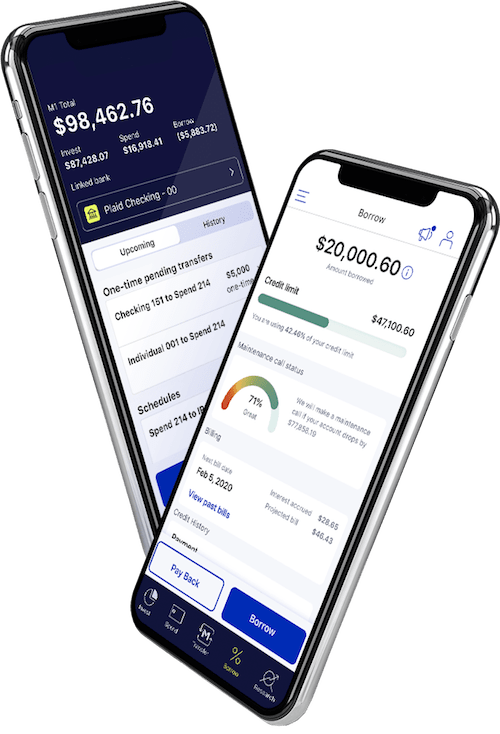 M1 Finance Borrow screenshot