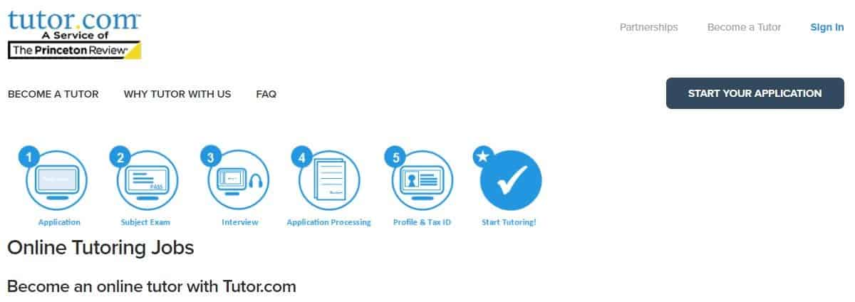 Tutor.com application