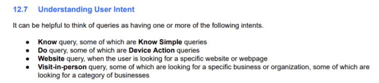 how Google processes user intent