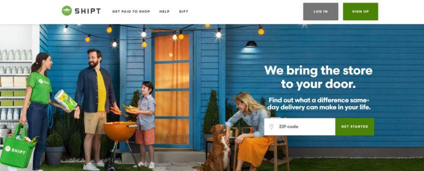 Shipt homepage
