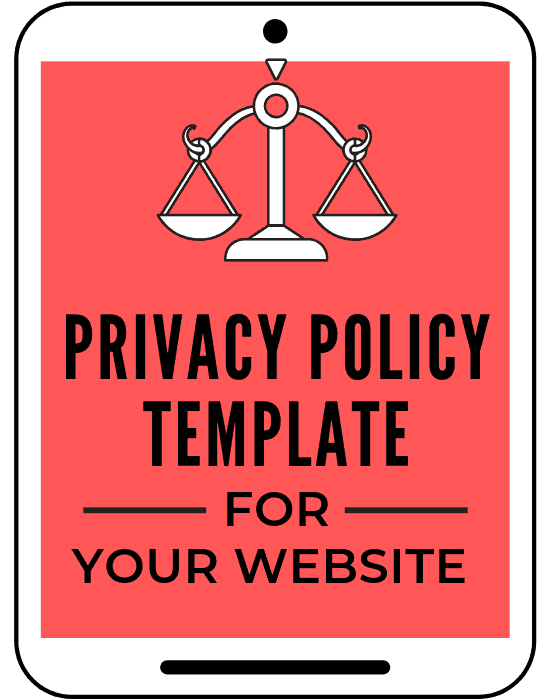 privacy policy template for bloggers