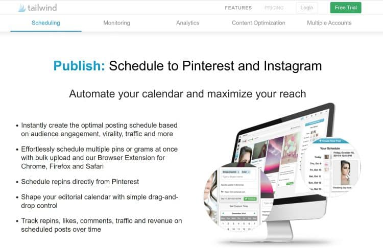 use tailwind to set your Instagram schedule