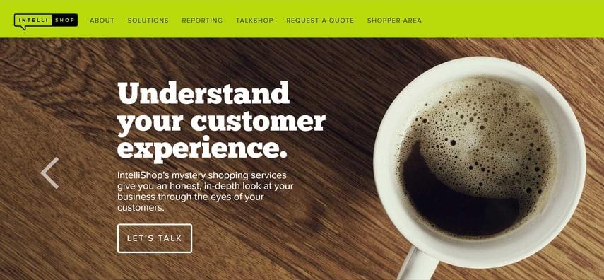 intelli shop homepage