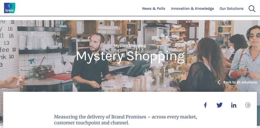 ipsos international mystery shopping