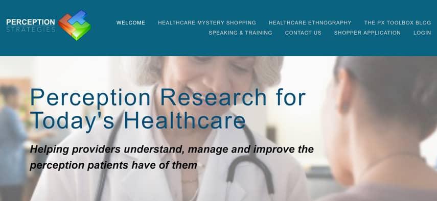 perception healthcare mystery shopping company