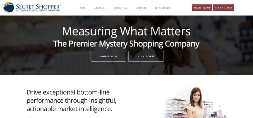 secret shopper homepage