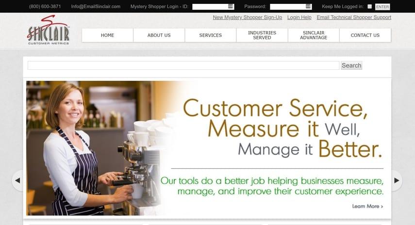 sinclair customer metrics homepage