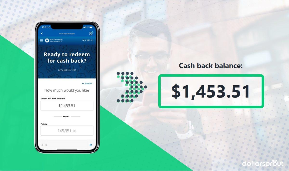 cashback balance on credit card