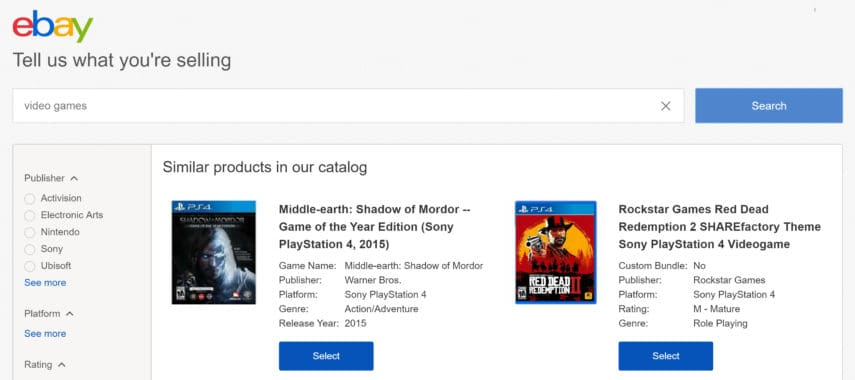 how to sell a video game on ebay