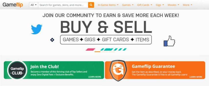 gameflip homepage