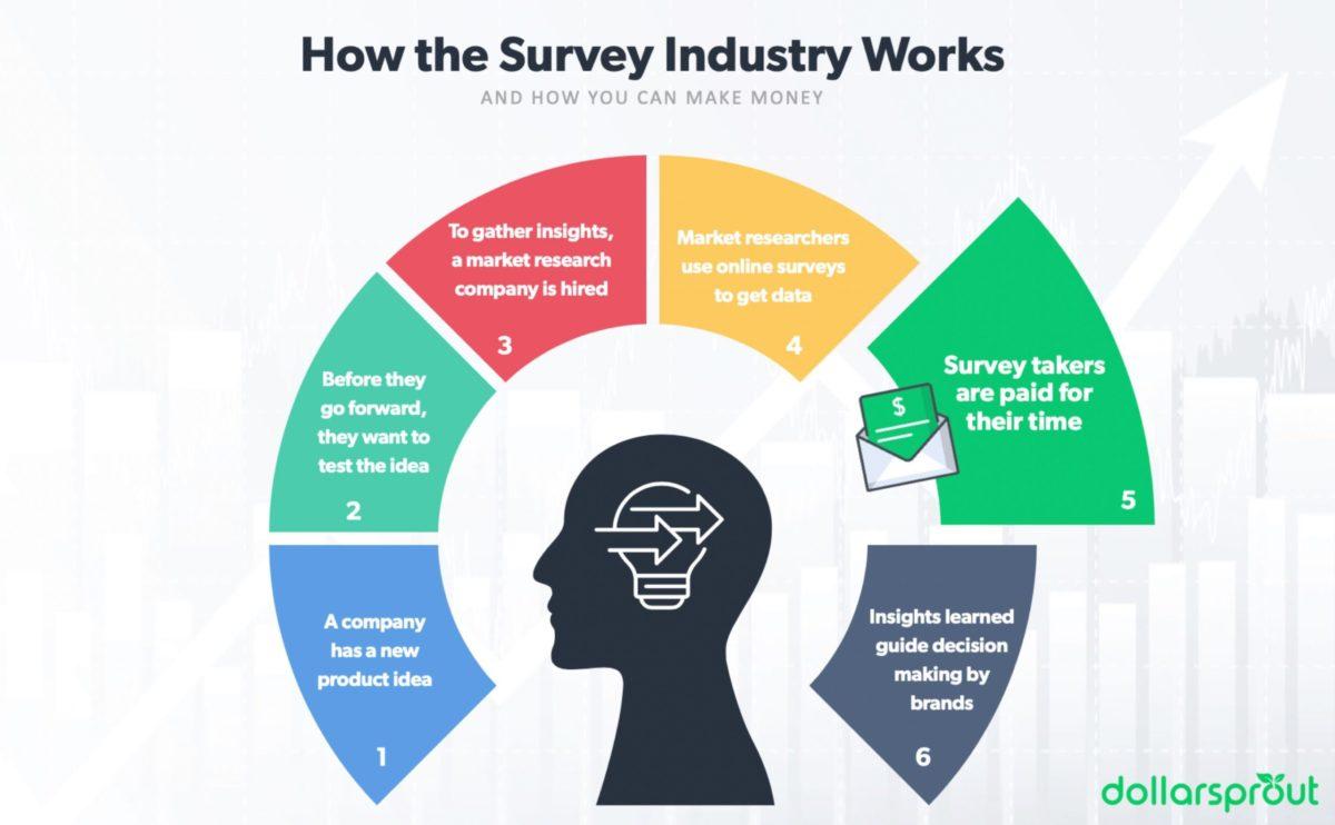 how survey sites work infographic