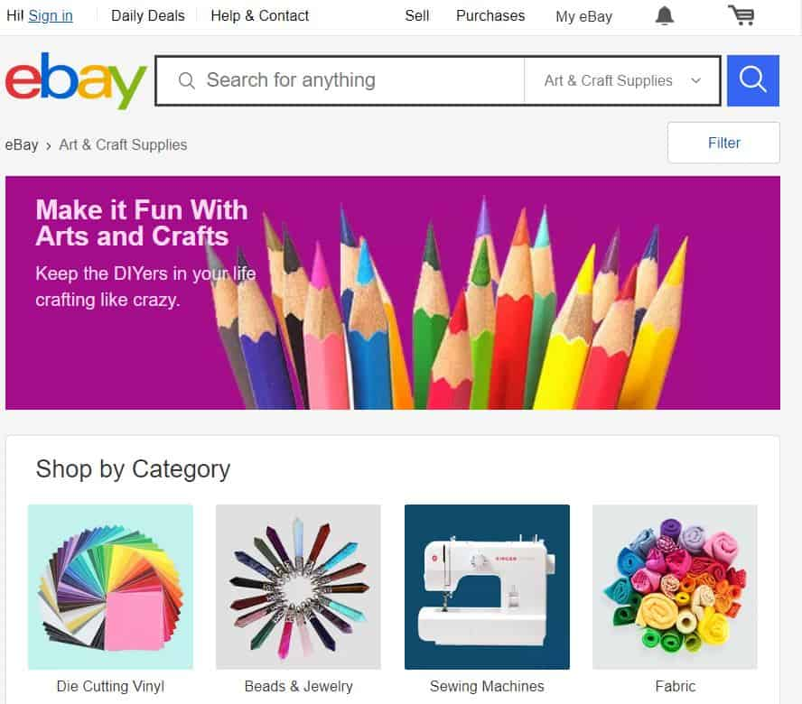 Sell Craft Online with an Ebay Store