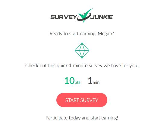 Survey Junkie Email Notification