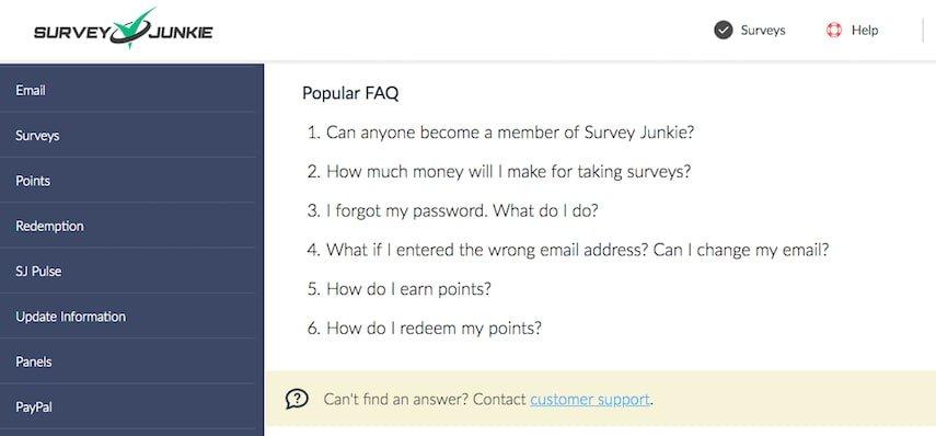 Survey Junkie FAQs