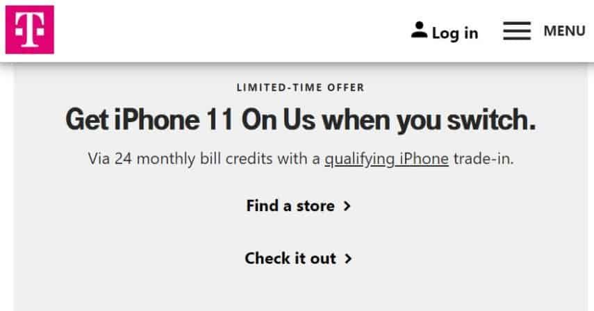 T-Mobile iPhone offer