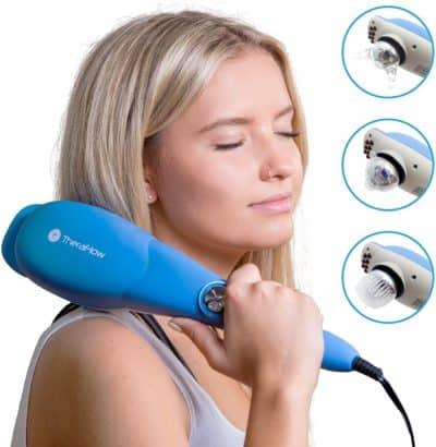 woman using massager