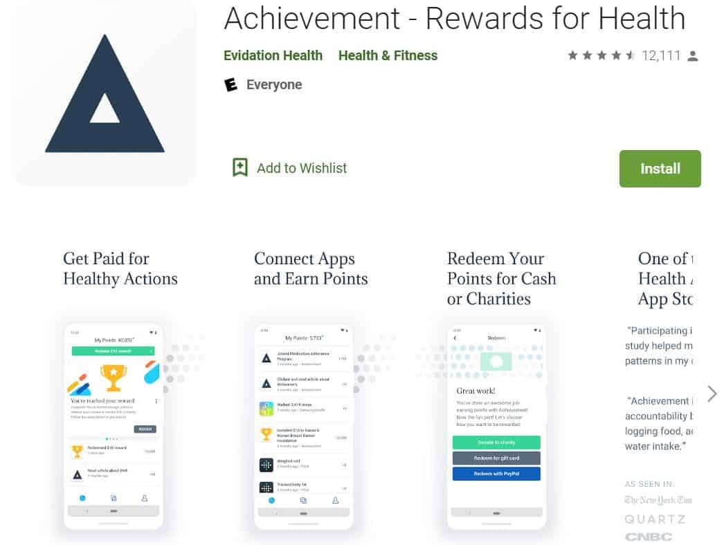 Achievement weight loss app