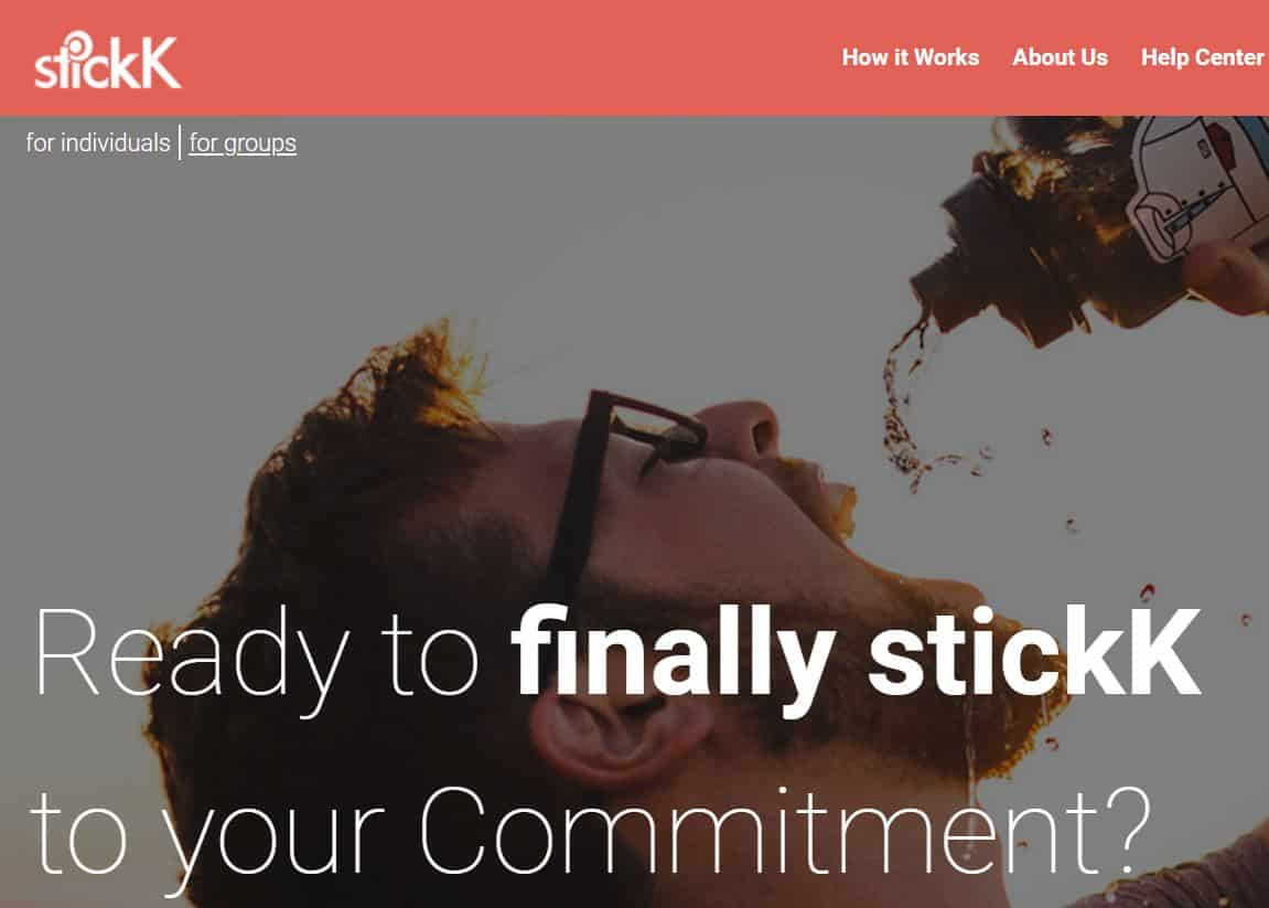 get paid to lose weight with Stickk