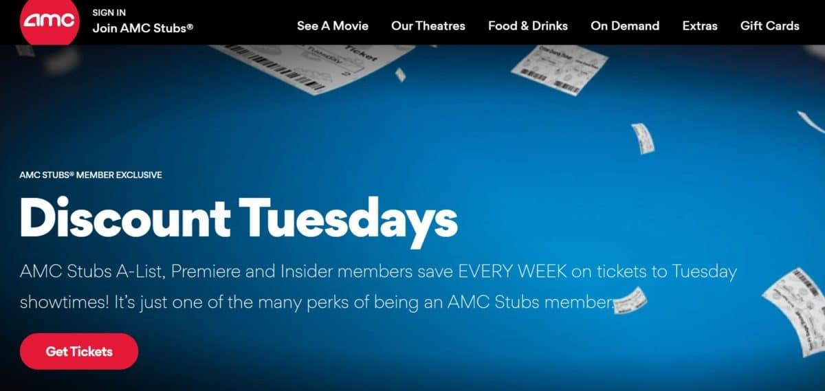 AMC's Discount Tuesdays promotion