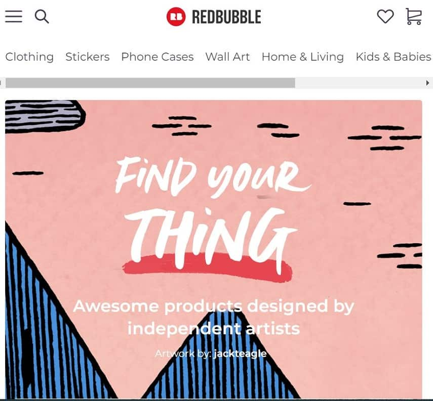 Use Redbubble to sell crafts online