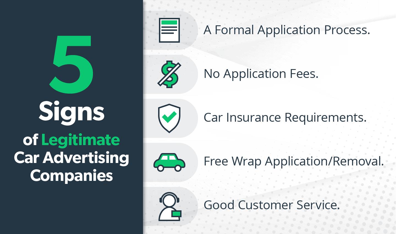 5 Signs of Legitimate Car Advertising Companies