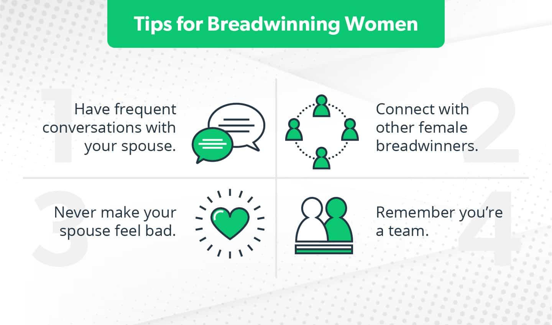 Tips for female breadwinners
