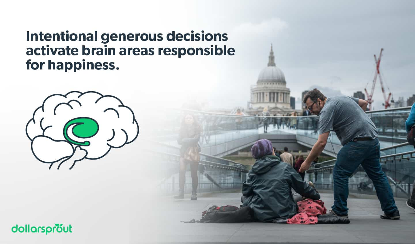 generosity activates areas in the brain responsible for happiness