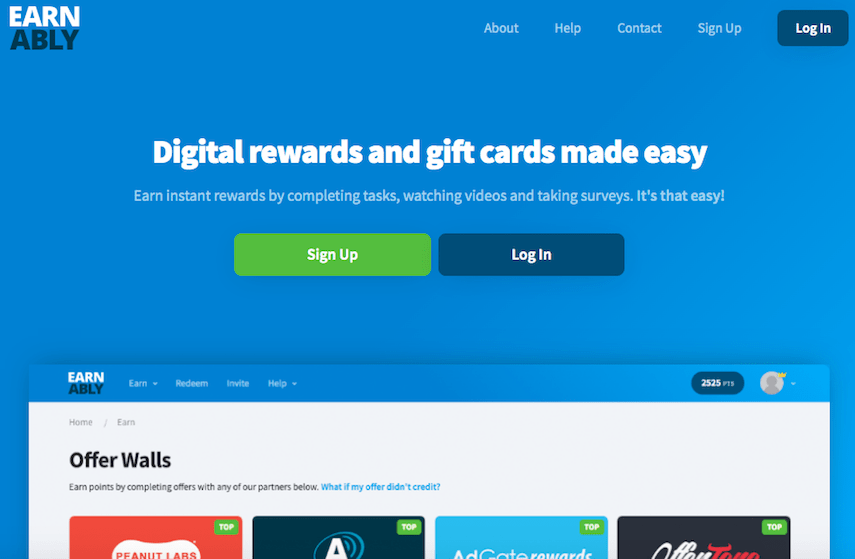 Earnably Homepage