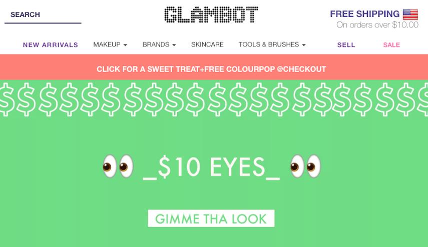 Glambot Homepage