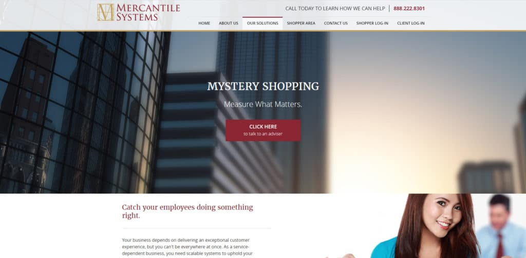 Mystery shopping Mercantile Systems