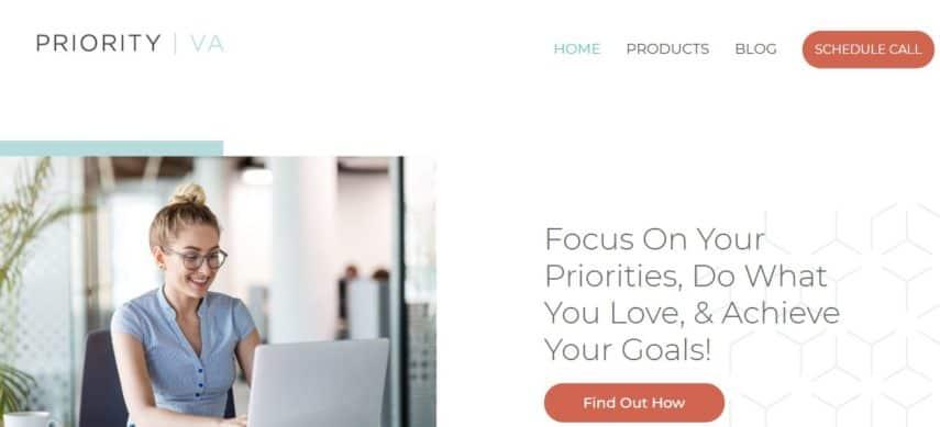 Priority VA homepage