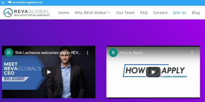 Reva Global homepage