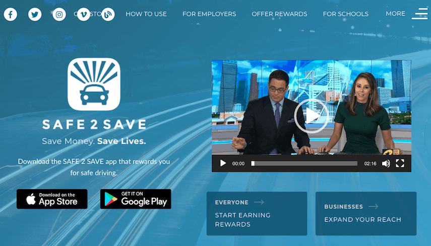 Safe2Save Homepage