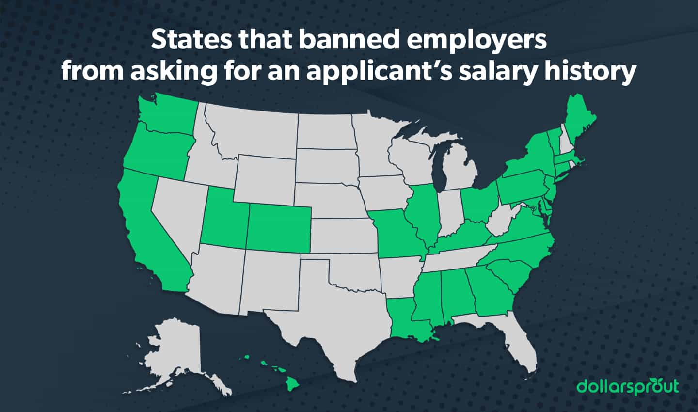 States that banned employers from asking for salary history